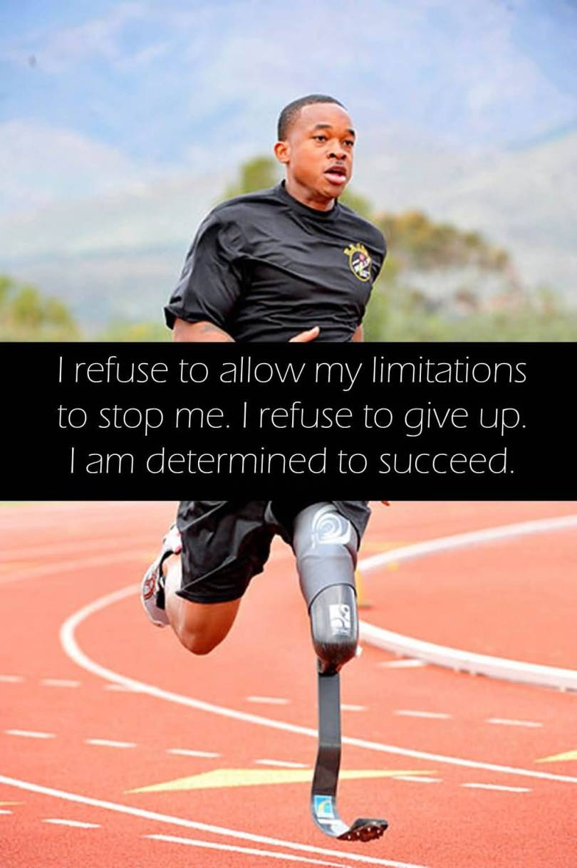 Determination sayings i refuse to allow my limitations to