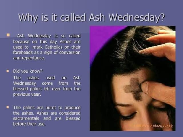 Did You Know Ash Wednesday