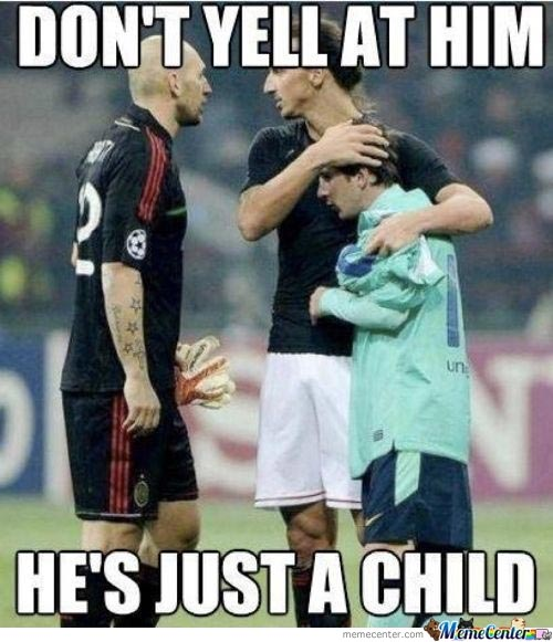 Don't yell at him he's just a child Football Memes