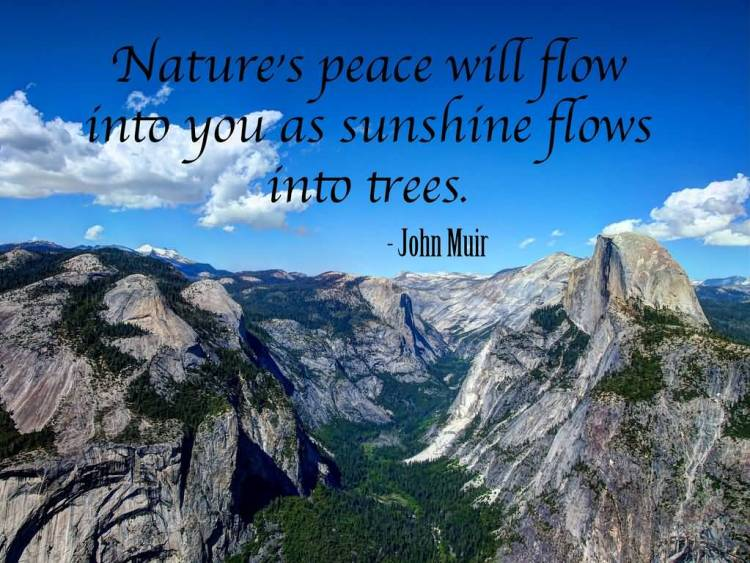 Earth Day Quotes nature's peace will flow into you as