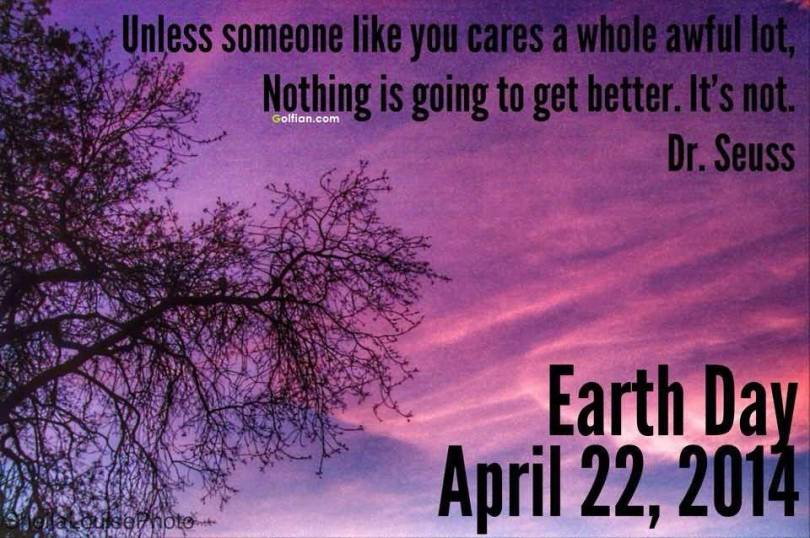 Earth Day Quotes unless someone like you cares a whole