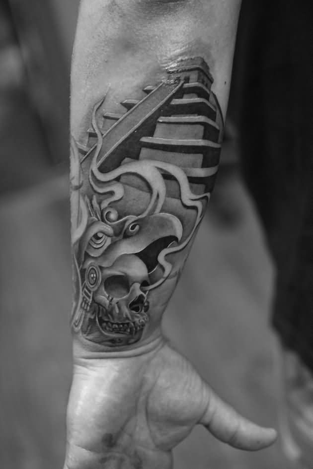 Famous Aztec Tattoo on Arm For Boys