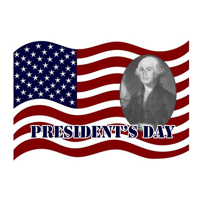 Flag Wishes Washington President's Day Image