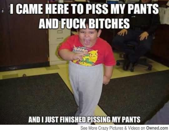 pissing pants joke