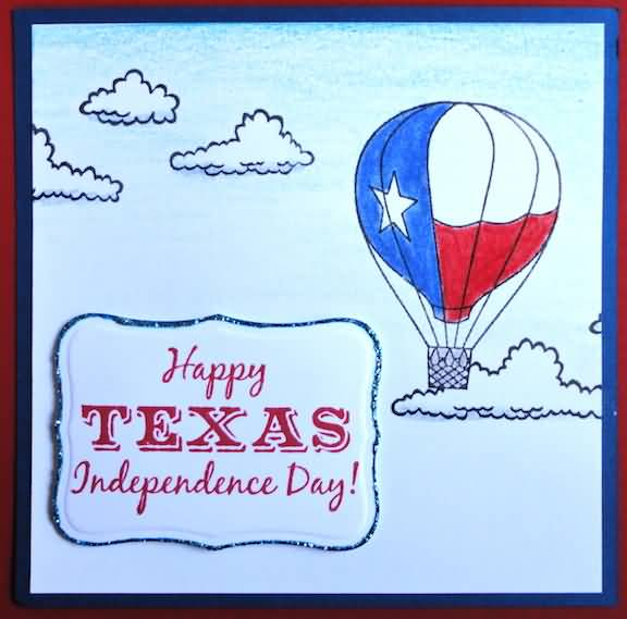 Handmade Happy Texas Independence Day Wishes Card Image
