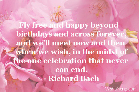 Happy Birthday Quotes fly free and happy beyond birthday and across forever