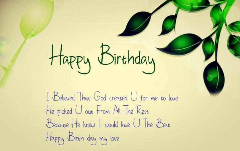 Happy Birthday Sayings happy birthday i believed that god created u for me to