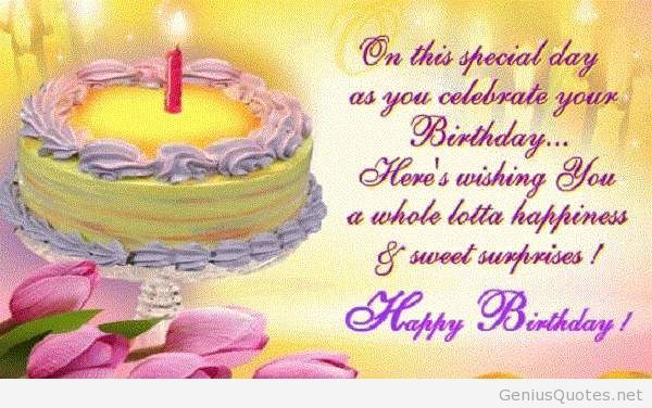 Happy Birthday Sayings on this special day as