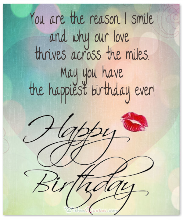 Happy Birthday Sayings you are the reason i smile