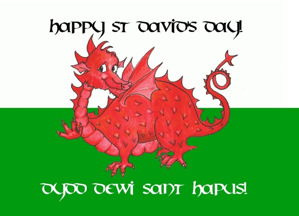 Happy St Davids Day Wishes Card