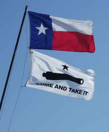Happy Texas Independence Day Waving Flag Wishes Picture