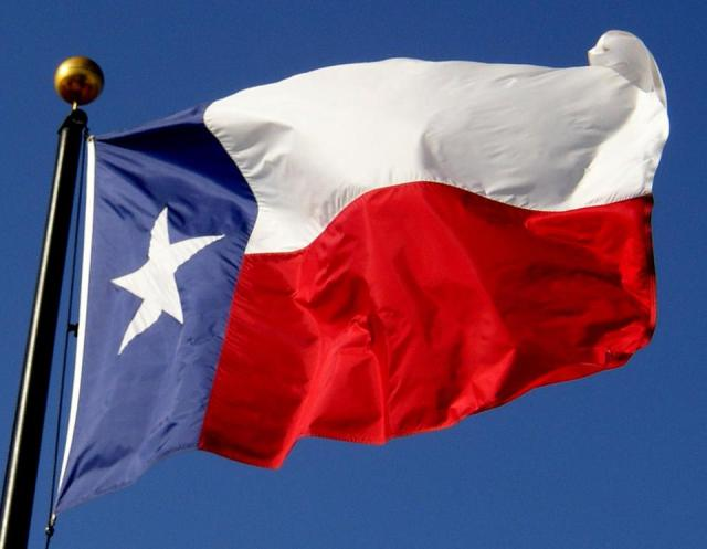 Happy Texas Independence Day Wishes Flag Image