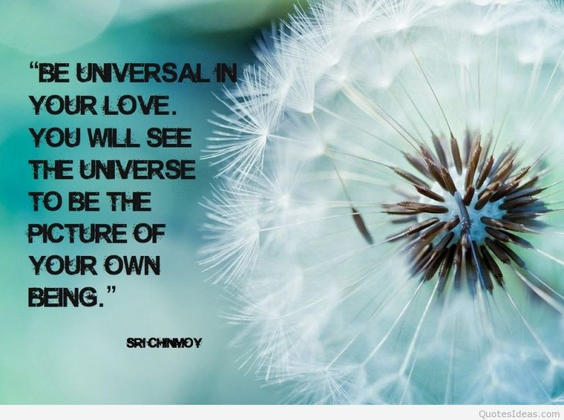 Healing Sayings be universal in your