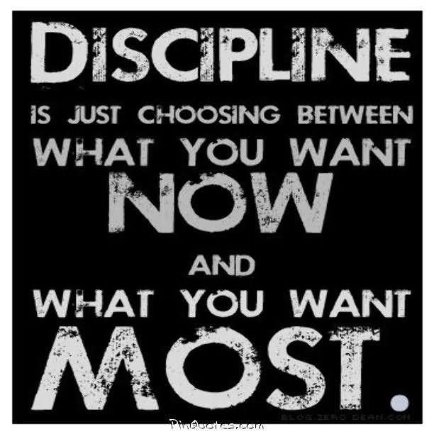 Healing Sayings discipline is just choosing