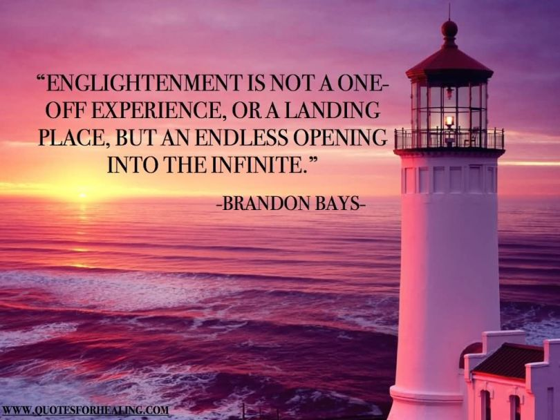 Healing Sayings enlightenment is not
