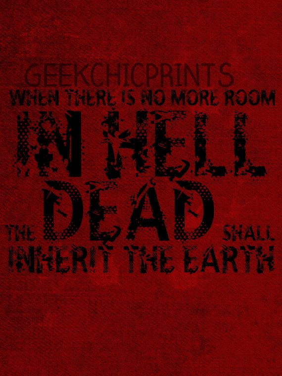 Hell Sayings geek chicprints when there is no more