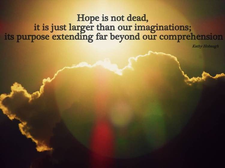 Hope Quotes hope is not dead it is just larger than our imagination