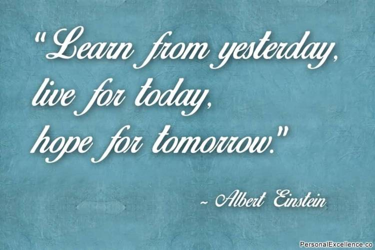Hope Quotes learns from yesterday