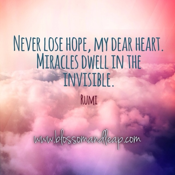 Hope Quotes never lose hope my dear heart