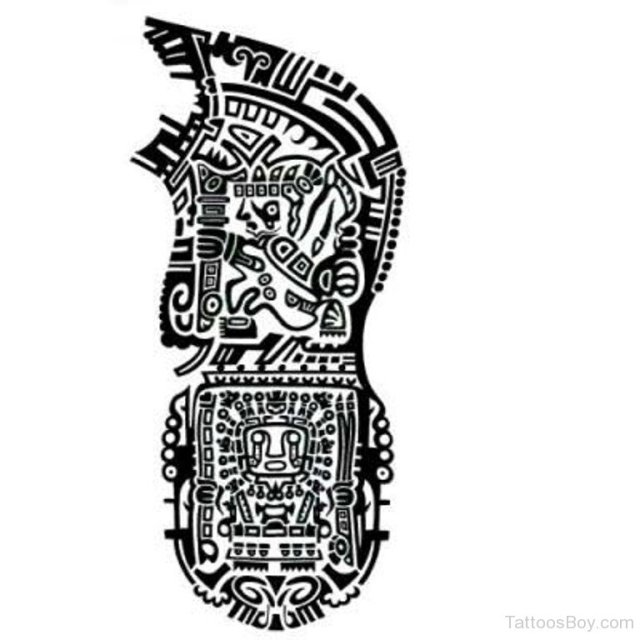 Incredible Aztec Tattoo For Shoulder And Arm tattoo