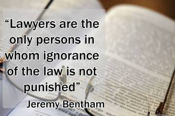 Legal Quotes lawyers are the only persons in whom