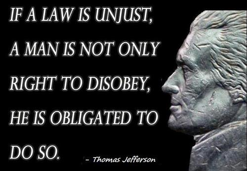 Legal Sayings if a law is unjust a man is not only