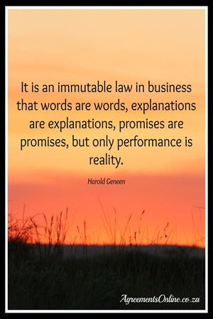 Legal Sayings it's an a immutable law in business that