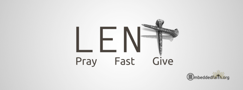Lent Pray Fast Give Ash Wednesday