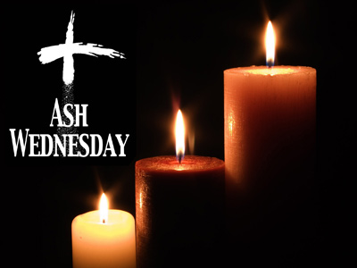 Lighting Candle Ash Wednesday