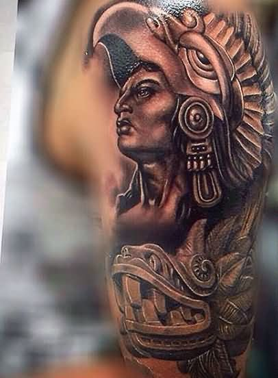 Marvel Aztec Tattoo on Arm For Boys