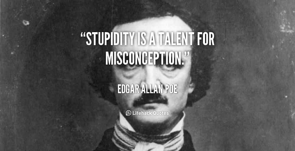 Misconception Sayings stupidity is a talent for misconception (4)