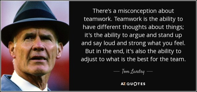 Misconception Sayings there's a misconception about teamwork