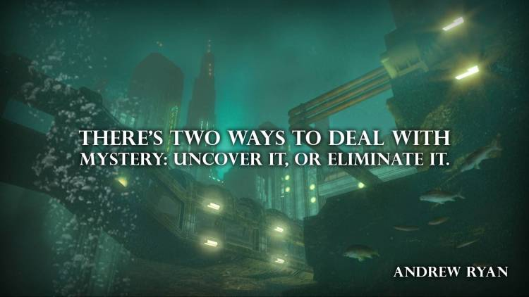 Mystery Quotes there's two ways to deal with mystery uncover it or eliminate it