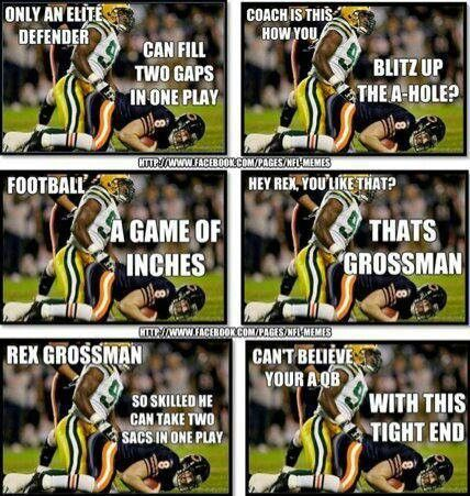 Only an elite defender can fill two gaps in one play American Football Meme