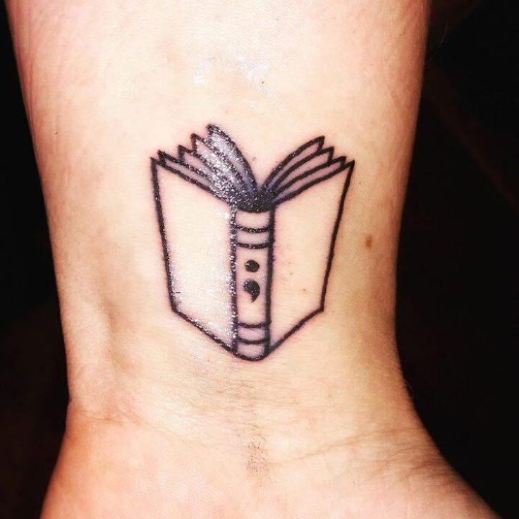 Perfect Semicolon Tattoo Design On Hand
