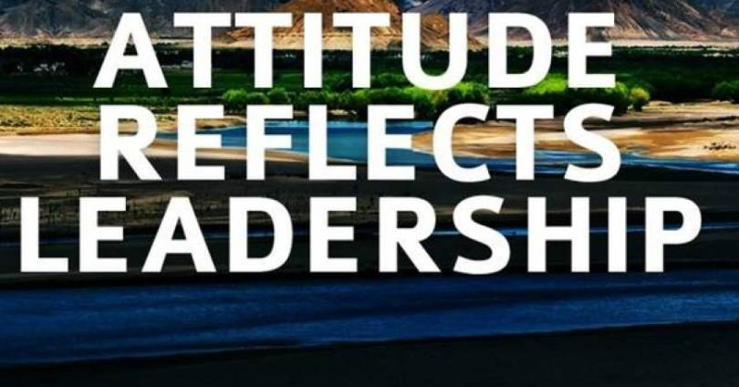 Position Sayings attitude reflects leadership
