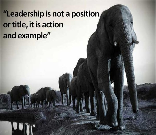 Position Sayings leadership is not a position or title