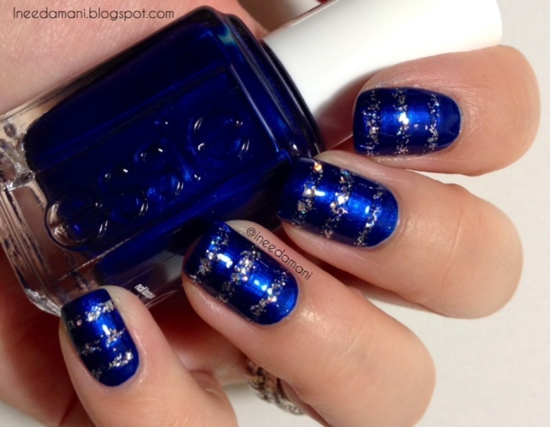 Sensational Blue And Silver Nails (2)