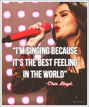 Singer Quotes tm singing because it's the best feeling