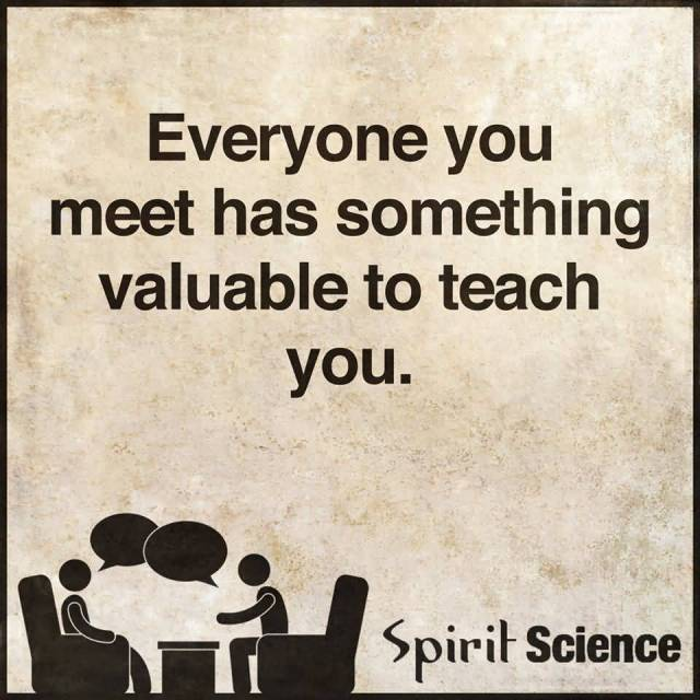 Teach Sayings everyone you meet has something valuable to teach you