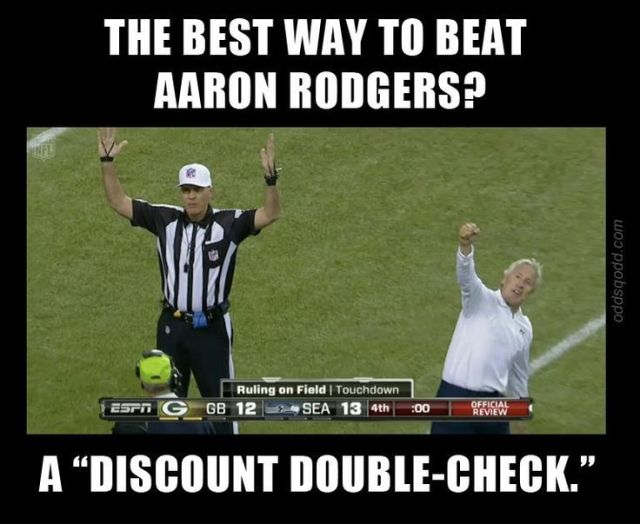 The best way to beat aaron rodgers a discount double check American Football Meme