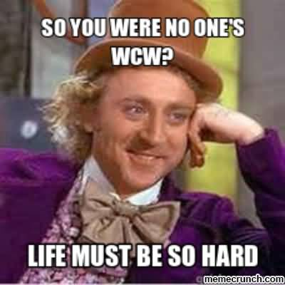 Wcw Quotes So you were no one's WCW life must be so hard