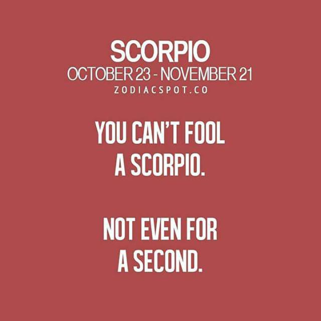 Zodiac Sayings you can't fool a scorpio not even for a second
