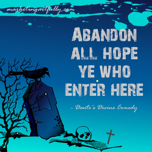 abandonment quotes abandon all hope ye who