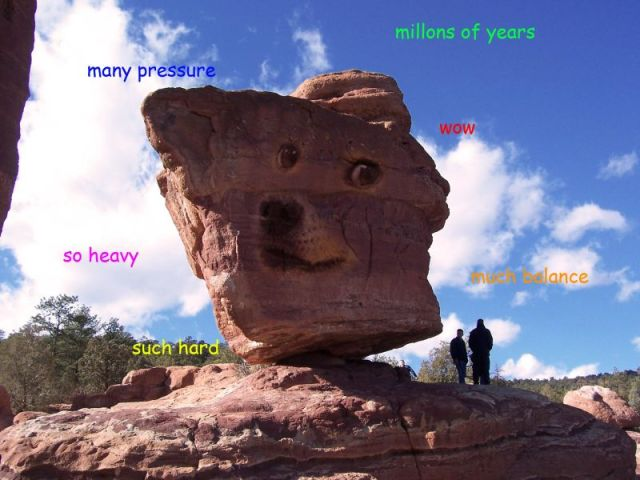 doge meme many pressure million of years wow so heavy such hard much balance