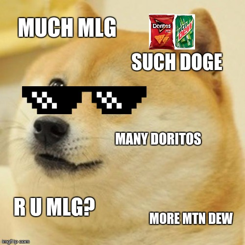 doge meme much mlg such doge many doritos