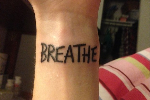 lovely mental illness tattoos breathe for boys