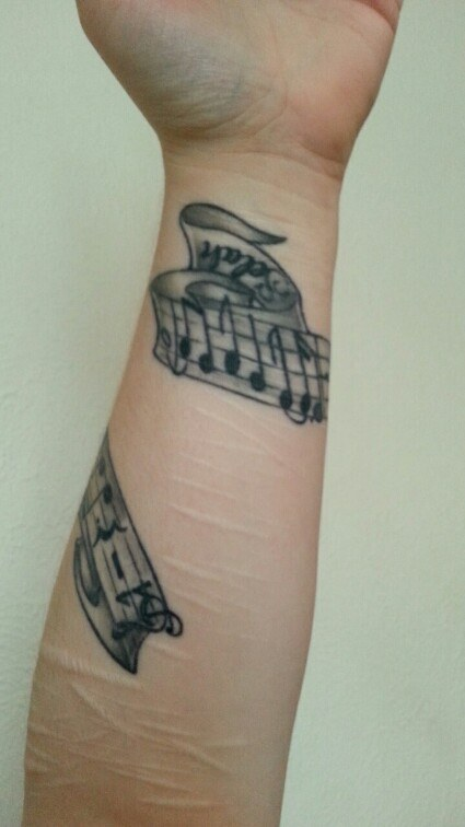 realistic mental illness tattoos on arm for Women's