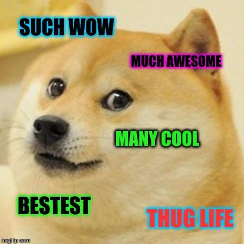 such wow much awesome doge meme   Picsmine
