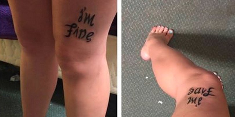 traditional mental illness tattoos on thigh for girls